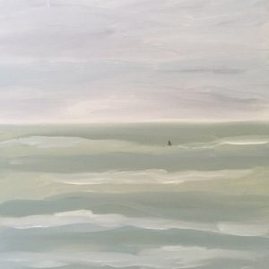 Marie-Van-Elder-Surfer-in-Green-Ocean-12x12