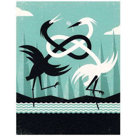 Dancing Herons